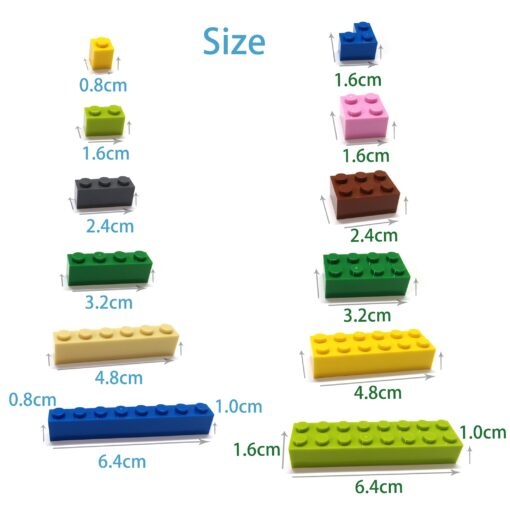 400pcs DIY Building Blocks Figure Bricks Smooth 1x1 24Color Educational Creative Size Compatible With lego Toys 4