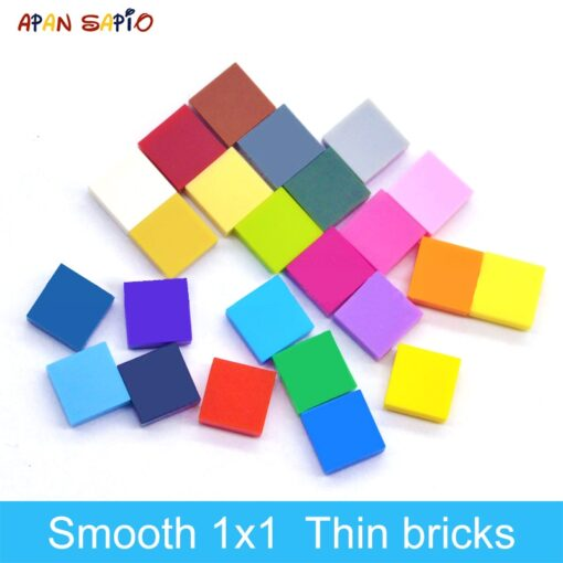 400pcs DIY Building Blocks Figure Bricks Smooth 1x1 24Color Educational Creative Size Compatible With lego Toys