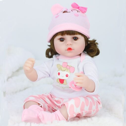 42cm baby bebe doll reborn Simulation Baby Dolls Soft Silicone Reborn Toddler Baby Toys For Girls 1