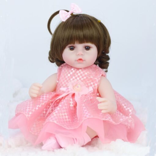 42cm baby bebe doll reborn Simulation Baby Dolls Soft Silicone Reborn Toddler Baby Toys For Girls 2