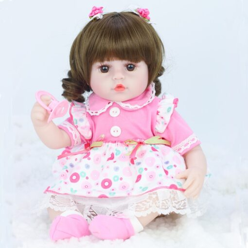 42cm baby bebe doll reborn Simulation Baby Dolls Soft Silicone Reborn Toddler Baby Toys For Girls 3