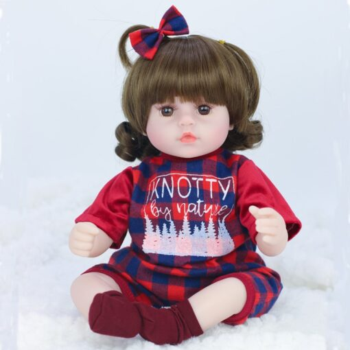 42cm baby bebe doll reborn Simulation Baby Dolls Soft Silicone Reborn Toddler Baby Toys For Girls 4