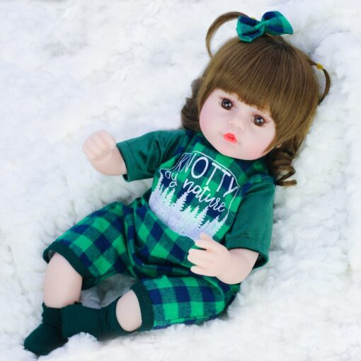42cm baby bebe doll reborn Simulation Baby Dolls Soft Silicone Reborn Toddler Baby Toys For Girls 5