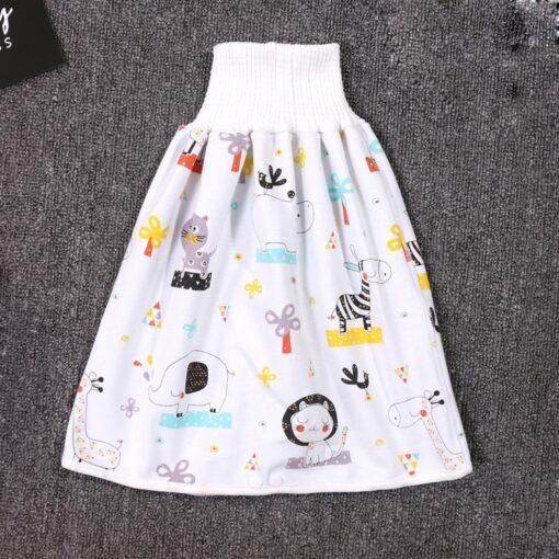 45 0 8y Baby Diaper Skirt Waterproof Cotton Training Pants Cloth Colorful Animal Dinosaur Print 2