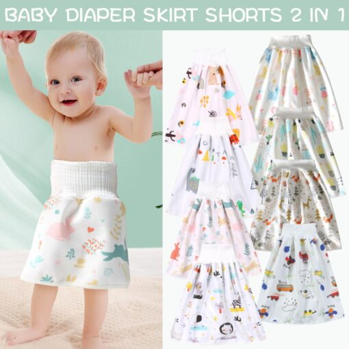 45 0 8y Baby Diaper Skirt Waterproof Cotton Training Pants Cloth Colorful Animal Dinosaur Print
