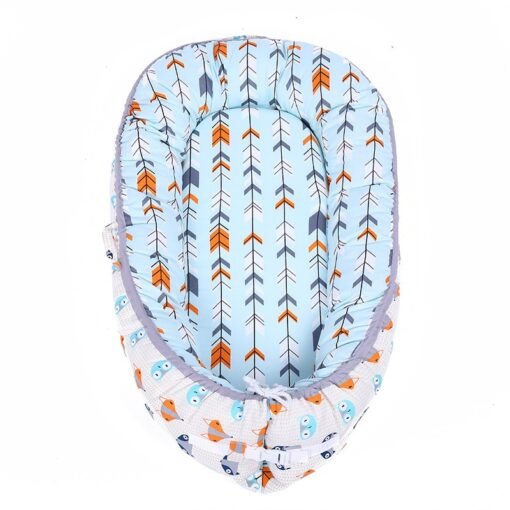 45 80CM Portable Baby Nest Bed for Boys Girls Travel Bed Infant Cotton Cradle Sleeping Cribs 4