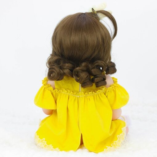 45CM Baby Silicone Reborn Realistic Drinking Water Pee Vinyl Body Doll Reborn Lifelike Baby Doll Newborn 1