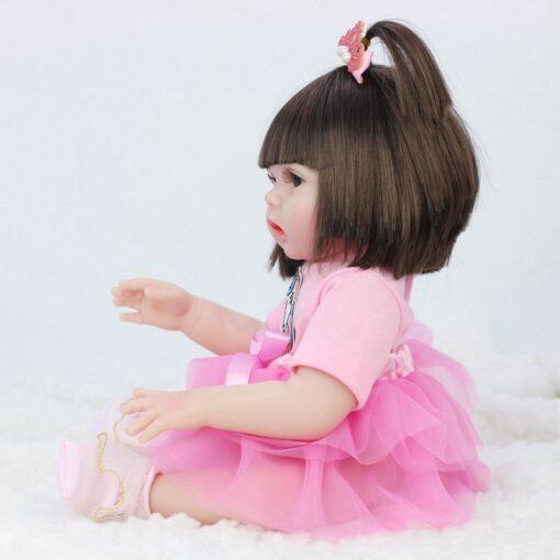 45CM Baby Silicone Reborn Realistic Drinking Water Pee Vinyl Body Doll Reborn Lifelike Baby Doll Newborn 2