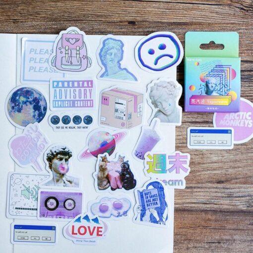 45Pcs Pack Kids Journal Sticker Decoracion Toys Children DIY Painting Diary Stickers Child Scrapbooking Sticker Flakes 1