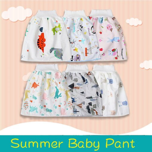 48 Childrens Diaper Skirt Shorts 2 in 1 Waterproof and Absorbent Shorts for Baby Toddler 3