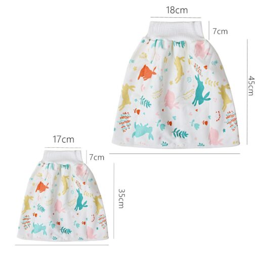 48 Childrens Diaper Skirt Shorts 2 in 1 Waterproof and Absorbent Shorts for Baby Toddler 4