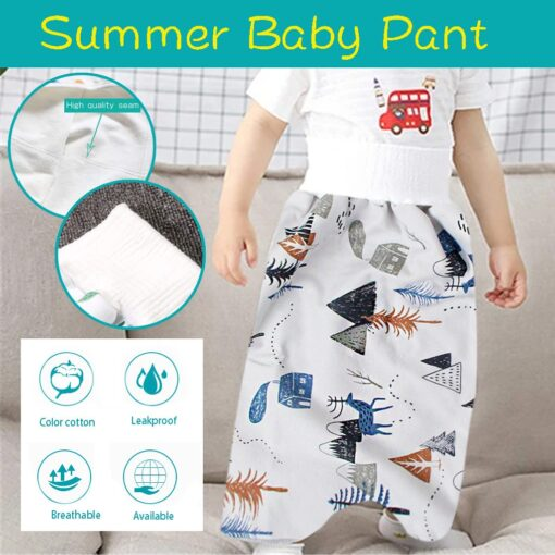 48 Childrens Diaper Skirt Shorts 2 in 1 Waterproof and Absorbent Shorts for Baby Toddler