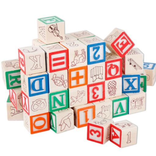 48 Printed Blocks Children s Wooden Toys Alphanumeric Pattern Building Blocks Early Education Cognitive Puzzle Assembly 4
