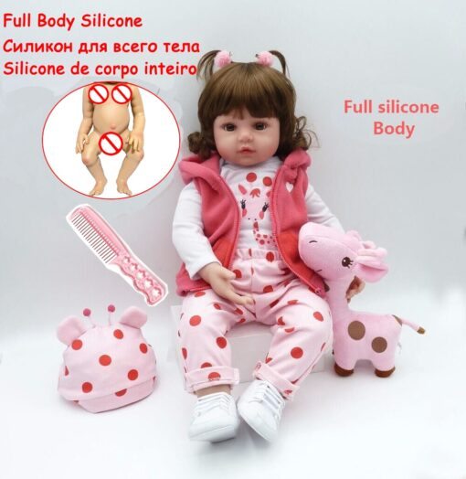 48cm Full Silicone Soft Body Reborn Baby Doll Toys Like Alive Baby Princess Babies Birthday Gift 1