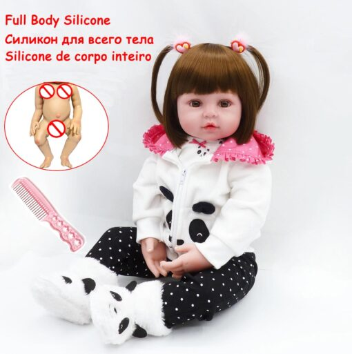 48cm Full Silicone Soft Body Reborn Baby Doll Toys Like Alive Baby Princess Babies Birthday Gift 2
