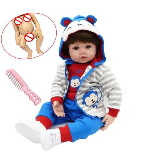 48cm Full Silicone Soft Body Reborn Baby Doll Toys Like Alive Baby Princess Babies Birthday Gift 4