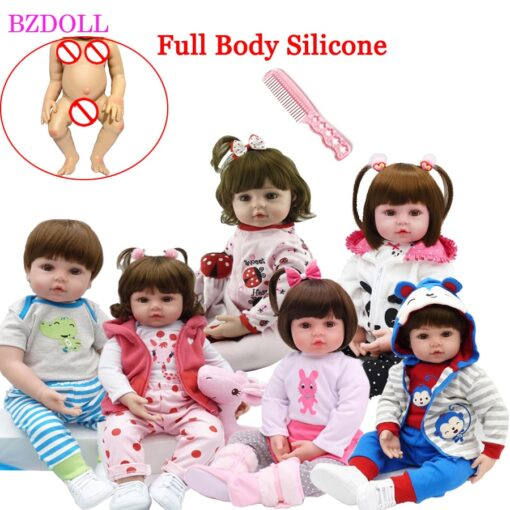 48cm Full Silicone Soft Body Reborn Baby Doll Toys Like Alive Baby Princess Babies Birthday Gift