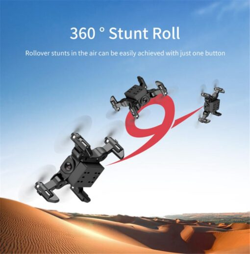 4K Mini Folding Drone WIFI Remote Control Aircraft Aerial Photography Fixed Height Four Axis Aircraft Helicopter 10
