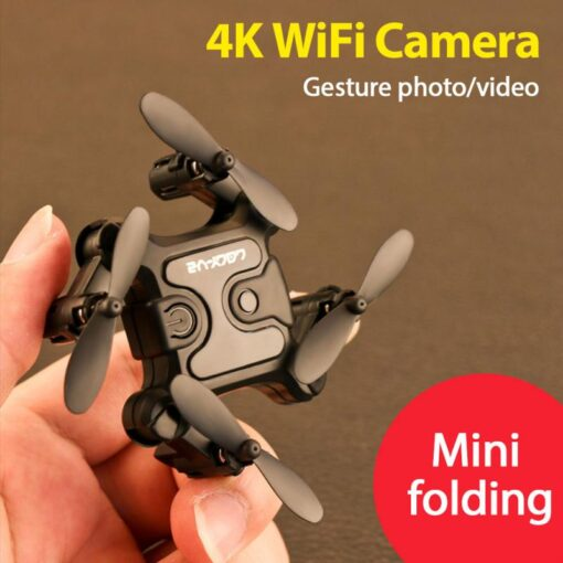 4K Mini Folding Drone WIFI Remote Control Aircraft Aerial Photography Fixed Height Four Axis Aircraft Helicopter 6