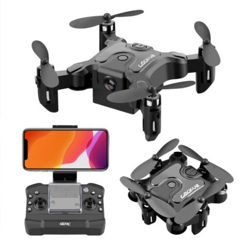 4K Mini Folding Drone WIFI Remote Control Aircraft Aerial Photography Fixed Height Four Axis Aircraft Helicopter 7