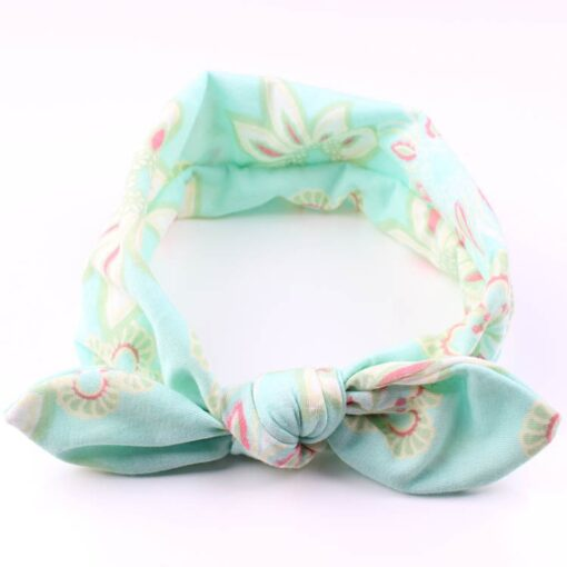 4PC Baby Infant Kids Girls Rabbit Ears Hairband Turban Bowknot Headwrap Hairband Fashion Hair Bands Children 1
