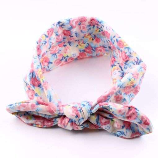 4PC Baby Infant Kids Girls Rabbit Ears Hairband Turban Bowknot Headwrap Hairband Fashion Hair Bands Children 2