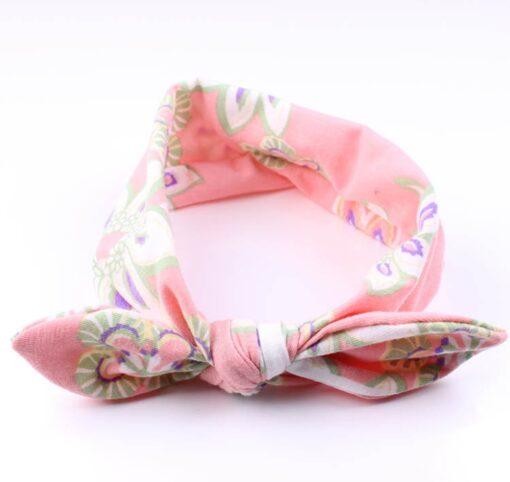 4PC Baby Infant Kids Girls Rabbit Ears Hairband Turban Bowknot Headwrap Hairband Fashion Hair Bands Children 3