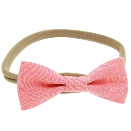 4PCS Baby Kids Girls Bowknot Elastic Hairband Headband Lovely Kids Girl Baby Hairband Toddler Cotton Accessories 4