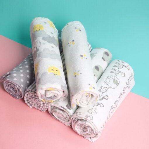 4Pcs Lot Baby Blankets Newborn Muslin Diapers 100 Cotton Baby Swaddle Blanket For Newborns Photography Kids 1
