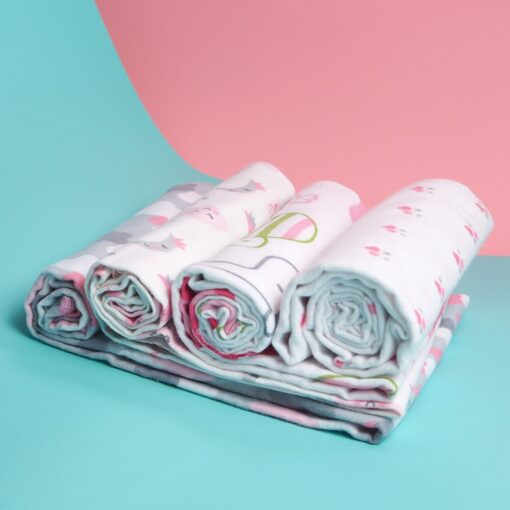 4Pcs Lot Baby Blankets Newborn Muslin Diapers 100 Cotton Baby Swaddle Blanket For Newborns Photography Kids 2