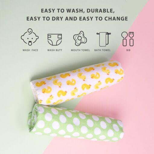 4Pcs Lot Cotton Muslin Diapers Baby Swaddle Baby Blankets Newborn Muslin Blanket Infant Wrap Soft Children 1