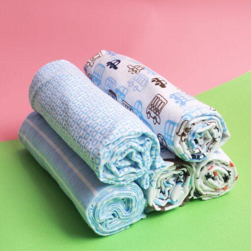 4Pcs Lot Cotton Muslin Diapers Baby Swaddle Baby Blankets Newborn Muslin Blanket Infant Wrap Soft Children 5
