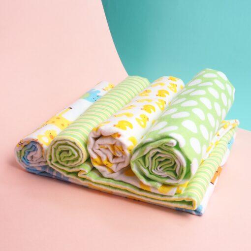 4Pcs Lot Cotton Muslin Diapers Baby Swaddle Baby Blankets Newborn Muslin Blanket Infant Wrap Soft Children