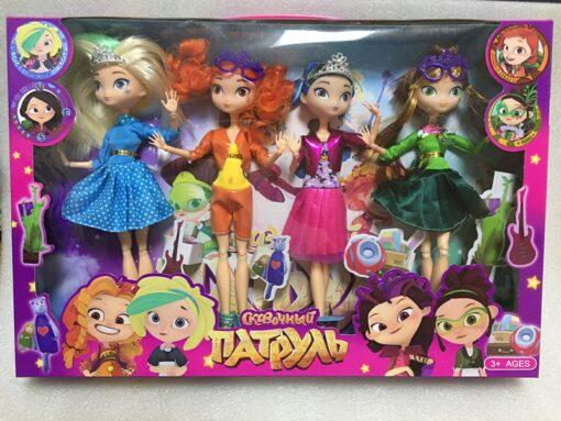 4pcs lot 28cm 9 joints can move Fairy Fantasy Patrol Doll MAWA AEHKA BAPR CHE KA 2