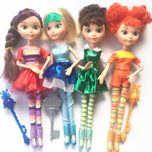 4pcs lot 28cm 9 joints can move Fairy Fantasy Patrol Doll MAWA AEHKA BAPR CHE KA
