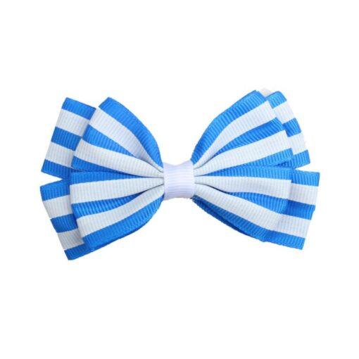 5 1 Pcs Girls Hair Clip Fashion Children Baby Toddler Newborn Stripe Cute Bow Knot Beautiful 3