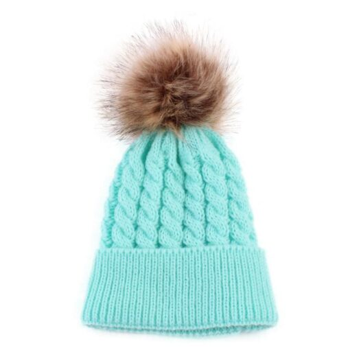 5 Colors 2018 Newborn Cute Winter Kids Baby Hats Knitted Wool Hemming Hat photography props nice 1