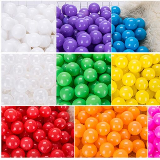 50 100 Pcs Eco Friendly Colorful Ball Pit Soft Plastic Ocean Ball Water Pool Ocean Wave 4