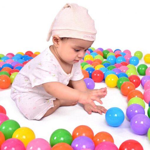 50 100 Pcs Eco Friendly Colorful Ball Soft Plastic Ocean Ball Funny Baby Kid Swim Pit 3