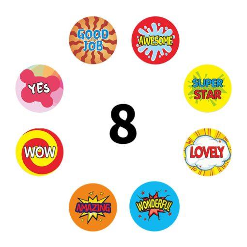 500 Sheets Volume Reward Encouragement Word Sticker Stickers For Kid s Teacher Classroom Toys Children Toys 10