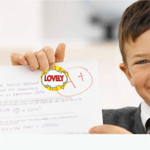 500 Sheets Volume Reward Encouragement Word Sticker Stickers For Kid s Teacher Classroom Toys Children Toys 2