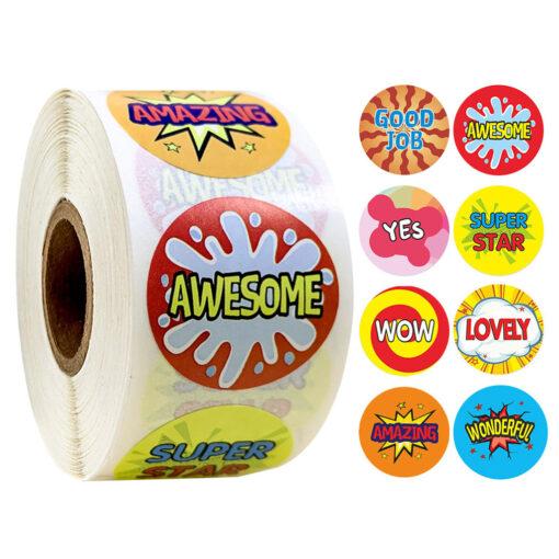 500 Sheets Volume Reward Encouragement Word Sticker Stickers For Kid s Teacher Classroom Toys Children Toys 6