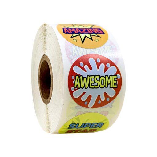 500 Sheets Volume Reward Encouragement Word Sticker Stickers For Kid s Teacher Classroom Toys Children Toys 8