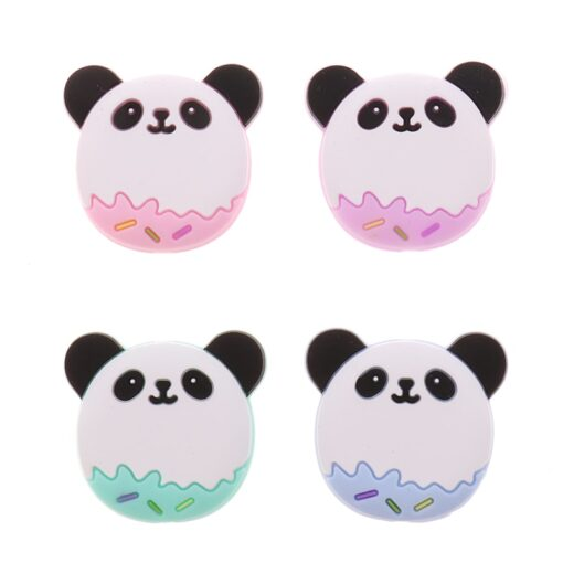 50PCS Unicorn Pearl Beads Silicone Bead Teething Toys Baby Diy Animal Rodent Set Food Grade Silicone 2