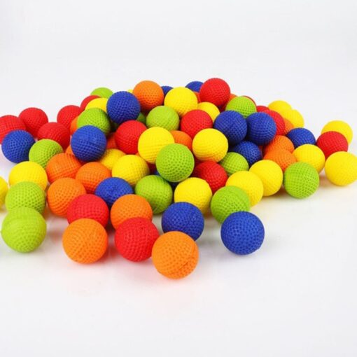 50Pcs Rounds Foam Ammo Refill Replace Bullet Balls Pack Children Kids Toy Compatible For Nerf Rival 1