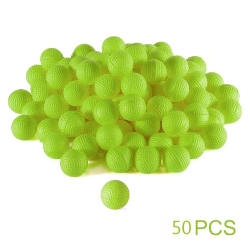 50Pcs Rounds Foam Ammo Refill Replace Bullet Balls Pack Children Kids Toy Compatible For Nerf Rival 11