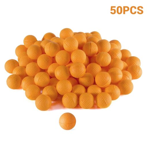 50Pcs Rounds Foam Ammo Refill Replace Bullet Balls Pack Children Kids Toy Compatible For Nerf Rival 5