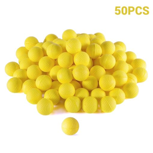 50Pcs Rounds Foam Ammo Refill Replace Bullet Balls Pack Children Kids Toy Compatible For Nerf Rival