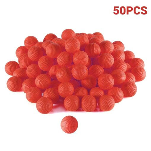 50Pcs Rounds Foam Ammo Refill Replace Bullet Balls Pack Children Kids Toy Compatible For Nerf Rival 9