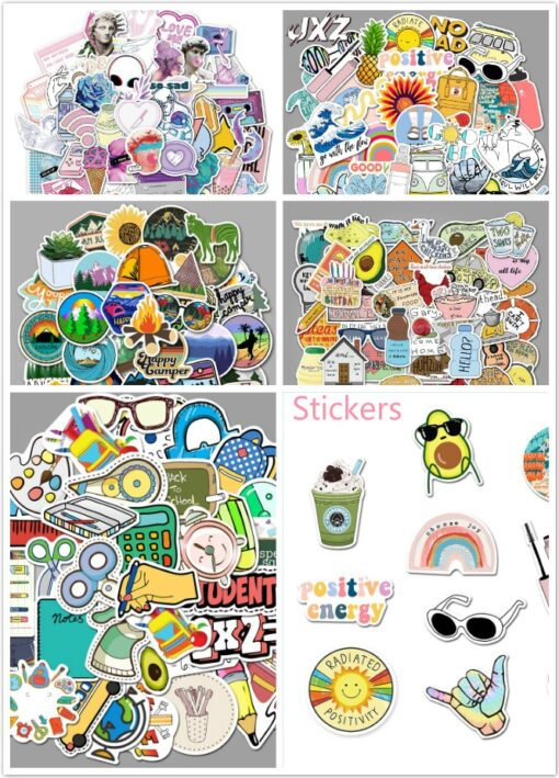 50pcs Mixed Cartoon Toy Stickers Stickers Waterproof Retro Style Stickers For Car Styling Bike Phone Laptop